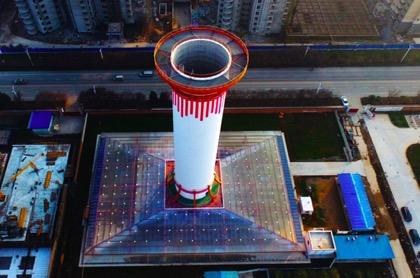КНР начала эксплуатацию первого 60-метрового солнечного очистителя воздуха