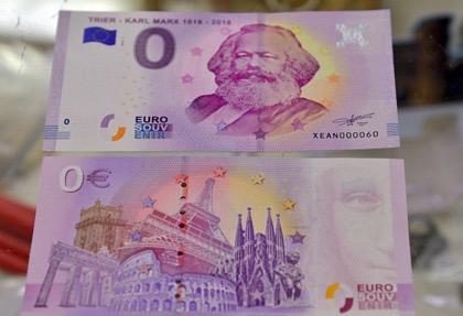 Евро с изображением Маркса пользуются большим спросом
