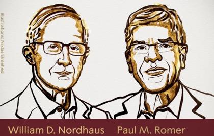 Нобелевскую премию по экономике присудили Уильяму Нордхаусу и Полу Ромеру
