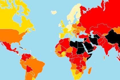 В рейтинге свободы прессы Россия находится между Венесуэлой и Бангладешем