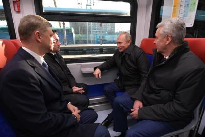 Путин открыл движение по Московским центральным диаметрам